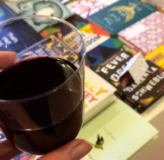 wine and books